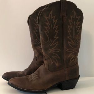 Ariat Western Cowboy Cowgirl Brown Boots 9